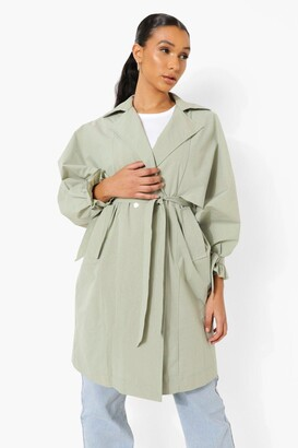 boohoo Oversized Belted Trench Coat