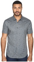 John Varvatos Slim Fit Sport Shirt with Cuffed Short Sleeves W444S4L