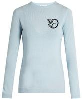 Bella Freud El Vera cat intarsia-knit wool sweater