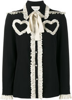 Gucci ruffled heart blouse