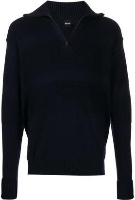 BOSS waffle knit jumper