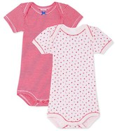 Petit Bateau Pack of 2 baby girl bodysuits