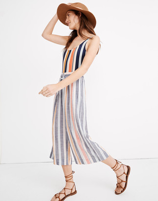 Madewell Huston Cover-Up Crop Pants in Towel Stripe