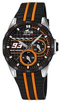 Lotus Marc Marquez Collection 2016 Unisex Quartz Watch with Black Dial Analogue Display and Black Rubber Strap 18260/1
