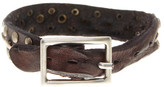 Tommy Bahama Triple Rivet Leather Bracelet