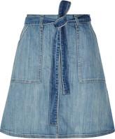 Current/Elliott The Wrap stretch-denim skirt