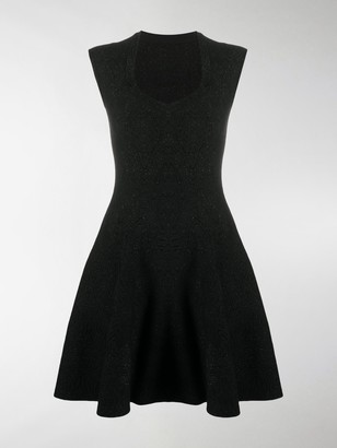 Alaia Flared Speckled Dress