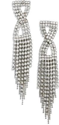 CRISTABELLE Infinity Crystal Fringe Earrings