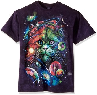 The Mountain Cosmic Cat Adult T-Shirt