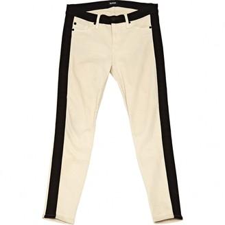 Hudson Ecru Cotton Jeans