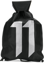 11 By Boris Bidjan Saberi logo gym bag