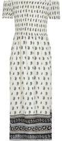 River Island Girls White tile shirred bardot maxi dress