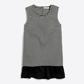 J.Crew Factory Striped ruffle-hem tank top