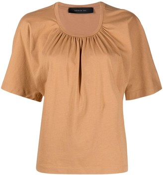 FEDERICA TOSI gathered cotton T-shirt