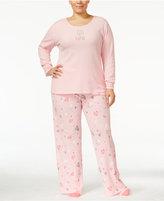 Hue Plus Size Thermal Pajama Set with Socks