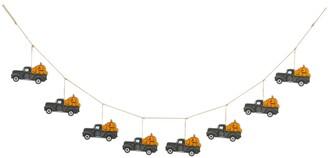 Glitzhome 6' L Halloween Metal Trucks Garland
