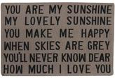 "Park B. Smith You Are My Sunshine Accent Tapestry Rug - Taupe 19"" x 27"""