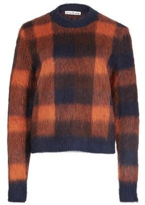 Acne Studios Checked alpaca-blend sweater