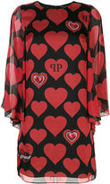Philipp Plein love heart mini dress - women - Silk - M
