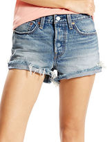Levi's Wedgie Distressed Cut-Off Denim Shorts