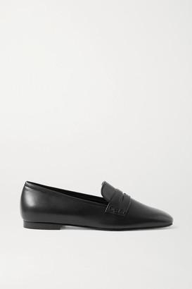 KHAITE Leather Loafers - Black