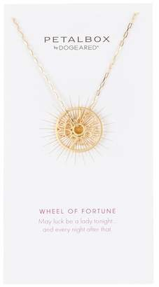 Dogeared Petalbox Wheel of Fortune Pendant Necklace