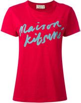 MAISON KITSUNÉ logo handwriting print T-shirt - women - Cotton - XS