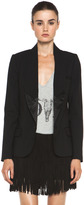 Haute Hippie The Perfect Sexy Tuxedo Blazer in Black