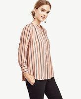 Ann Taylor Petite Essential Stripe Popover