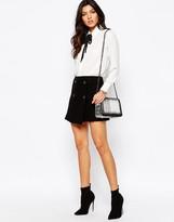 MANGO Button Detail Skirt