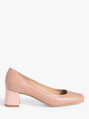 John Lewis & Partners Amanda Contrast Heel Court Shoes