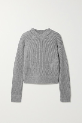 Proenza Schouler White Label Cutout Ribbed Wool Sweater - Gray