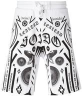 Marcelo Burlon County of Milan multiple prints sweat shorts - men - Cotton - S