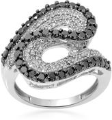Black Diamond FINE JEWELRY LIMITED QUANTITIES 1 CT. T.W. White and Color-Enhanced Swirl Ring