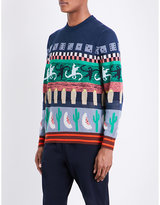 Ps By Paul Smith Abstract Jacquard-print Knitted Jumper