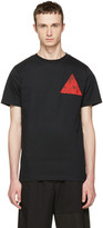 McQ by Alexander McQueen Black Floral Double Triangle T-Shirt