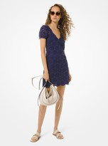MICHAEL Michael Kors Embellished Broderie Anglaise Cotton Dress