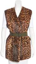 Dries Van Noten Leopard Print Fur Vest