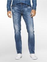 Calvin Klein Slim Straight Light Destructed Jeans
