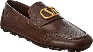 Valentino Vlogo Leather Driving Shoe