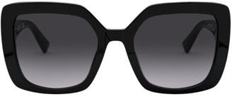 Valentino Square Oversized Sunglasses