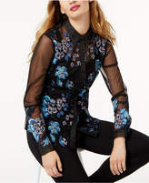 Sachin + Babi SB by Blouse with Embroidered Sleeve, Created for Macy's