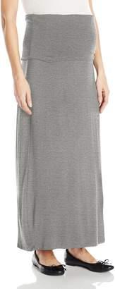 Three Seasons Maternity Women's Maternity Solid Long Maxi Skirt