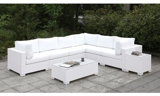 Rosecliff Heights Kuhn 7 Piece Deep Seating Group with Cushions