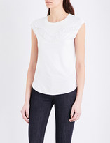 Claudie Pierlot Texas cotton-blend T-shirt