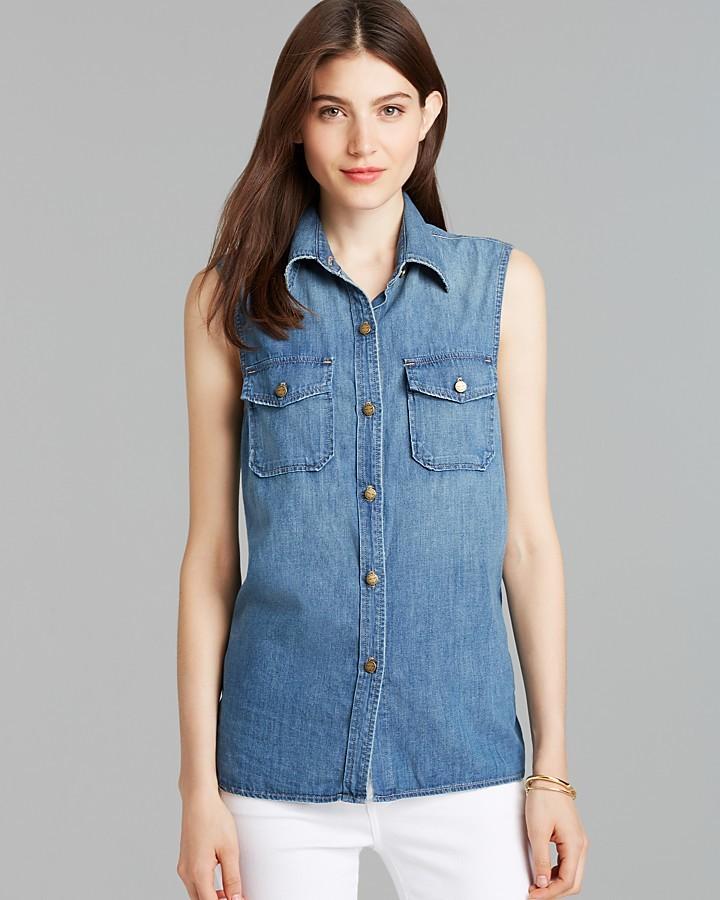 Current/Elliott Shirt - The Sleeveless Perfect in Miner