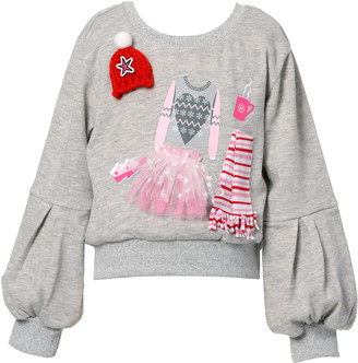 Truly Me Kids' Fashionista Applique Sweatshirt