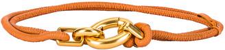 Bottega Veneta Skinny Belt in Clay & Gold | FWRD