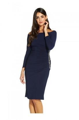 Adrianna Papell Off Shoulder Jersey Dress