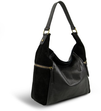 American Leather Co. Large Leather and Suede Hobo - Erie